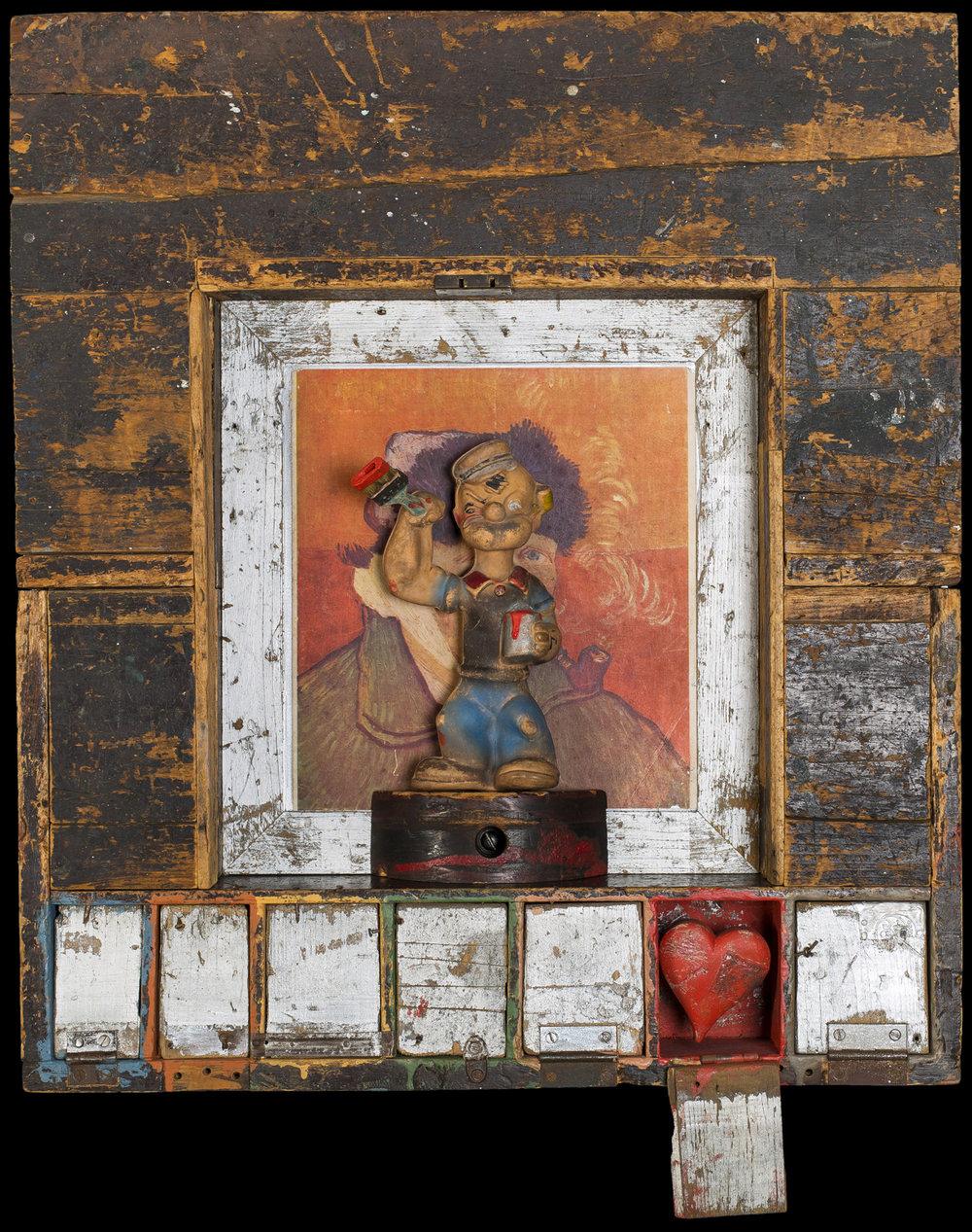 Me & Vince, 2013, 28x24x5 (Sold)
