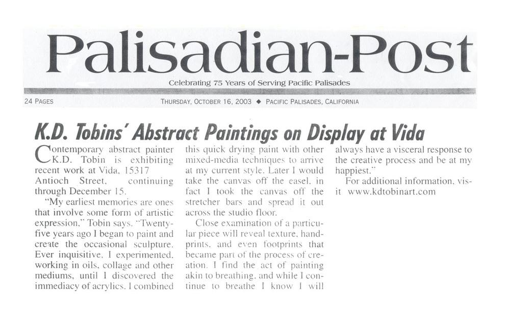 Palisades Post 2003