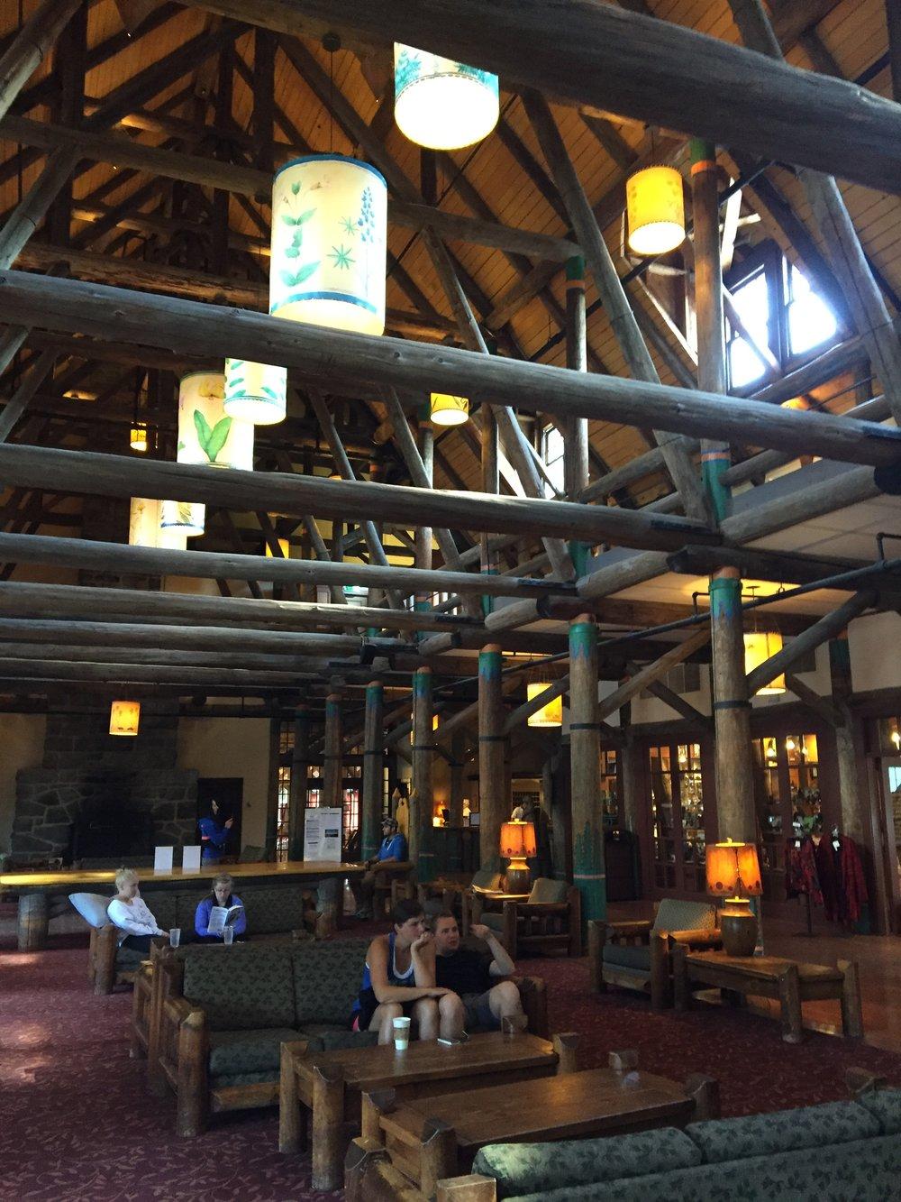Lobby interior of Paradise Inn