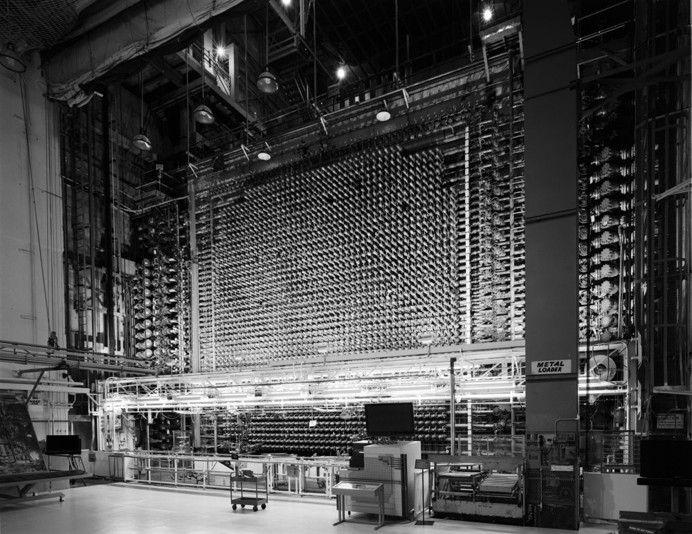 The final shot of the loading face of the reactor.