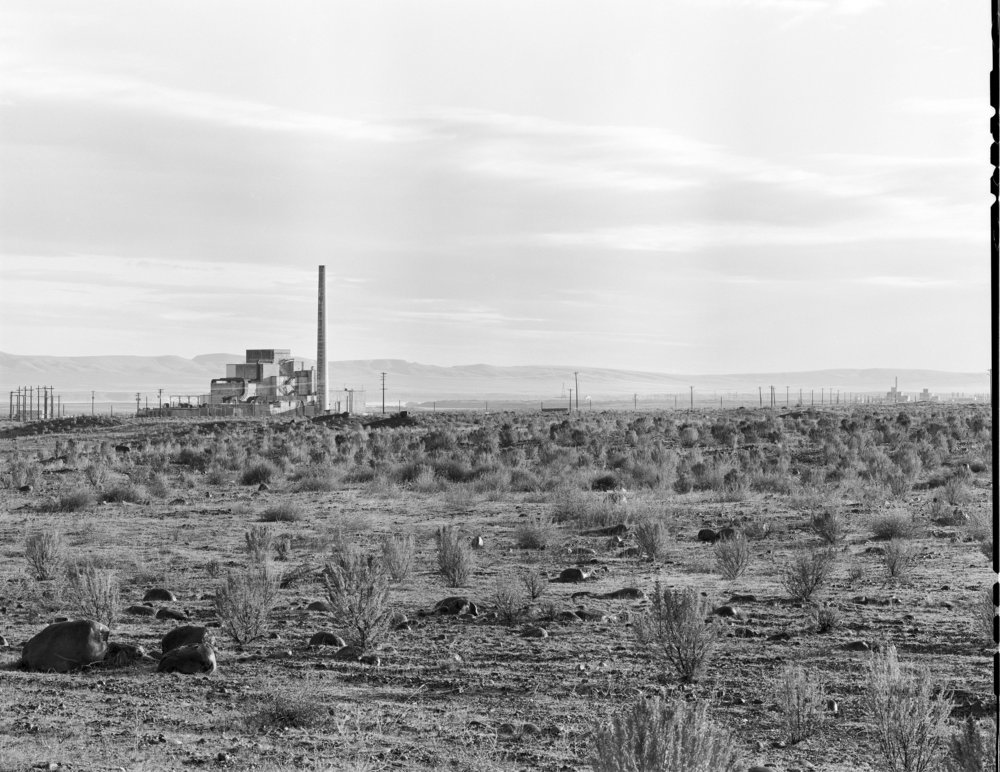 B Reactor with K-East and K-West Reactors in the distance. Since establishing the Hanford Reservation, only about 3-4% of the land has been disturbed by construction.