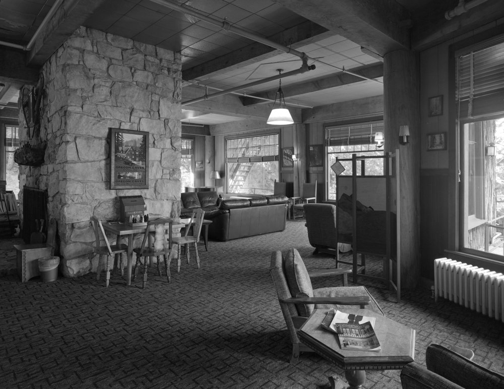 Lobby of the Chateau at the Oregon Caves (1934)
