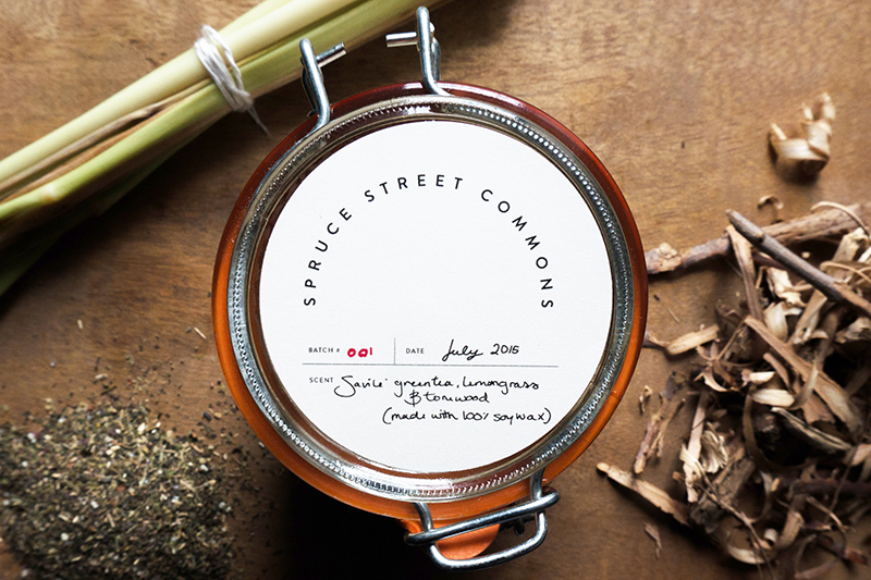 COLLABORATION WITH LOCAL PRODUCER, OLIVER CANDLES TO CREATE SIGNATURE CANDLES FOR RESIDENTS