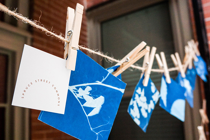 THE FINE ART OF CYANOTYPES (SUNPRINTING) WORKSHOP WITH MERELYMERE IN THE ANNEX COURTYARD