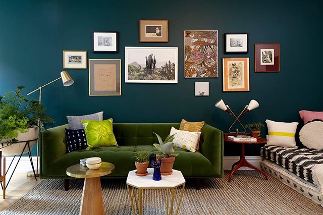 "Thank you @boutiquehomes for featuring our #TouraineNo108 hotel suite. - ""An inspired picture wall at Touraine Apartments, a historical landmark in Philadelphia. Initially designed in 1917 as a grand hotel, it is just as grand as a vacation rental today, with its perfect balance of preservation and restoration, and careful vintage and modern layering that create a lovely lived-in feel. Go on, make a weekend of it!"""