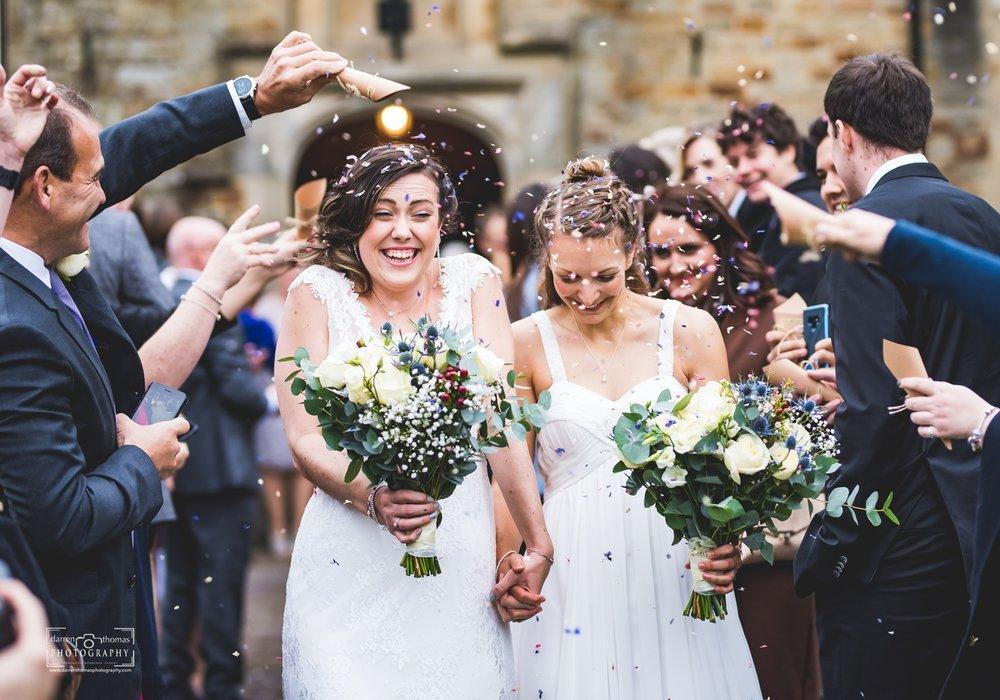 Bryngarw Wedding Photography Confetti