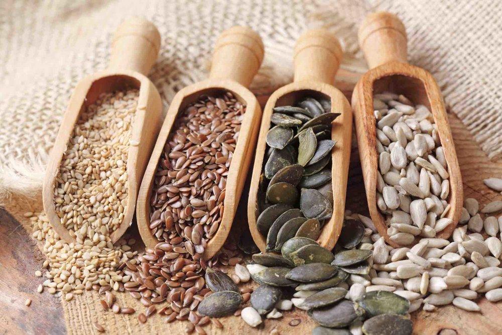 diverses graines à transvaser