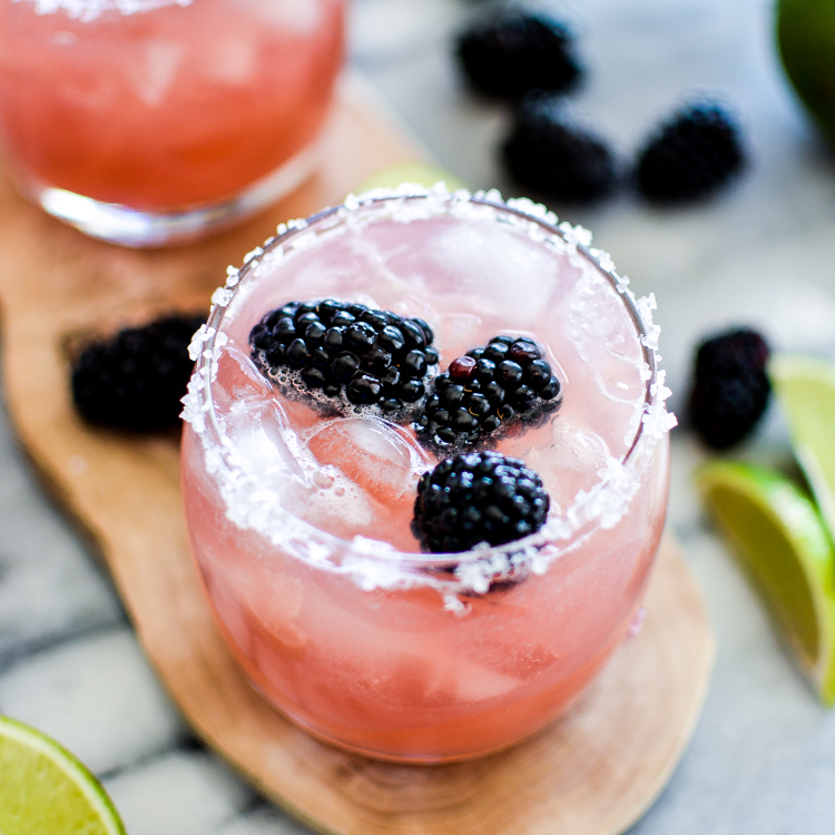 Drink - Fruity, delicious, tangy. This Blackberry Lime Margarita is a must-have. Get the full recipe to this cool and refreshing cocktail here.
