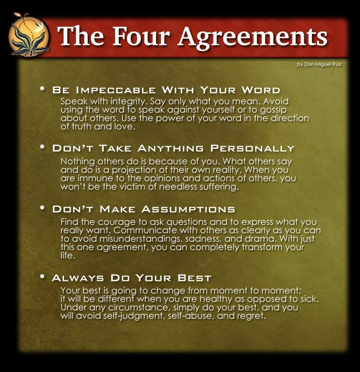 21 For 21 Live The Four Agreements In Real Life