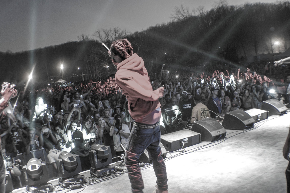 Fetty Wap on stage at #14FEST on 4/16/2016