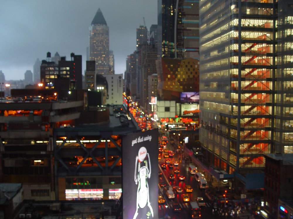 8th Avenue, looking northward to a storm over New York. 2007. Photography by Chris Buecheler. Wikipedia Commons.