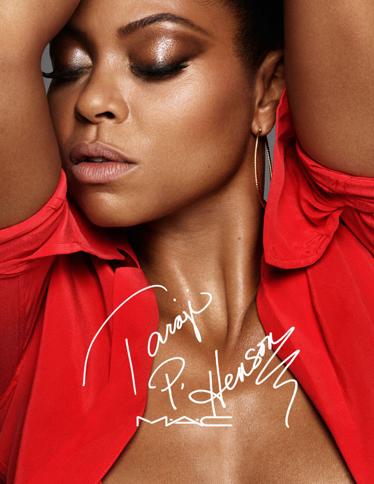 Taraji P. Henson collaborates with MAC. Photo courtesy of harper's bazaar.