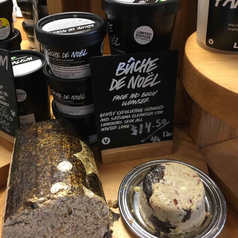 Skincare at Lush for the holiday season
