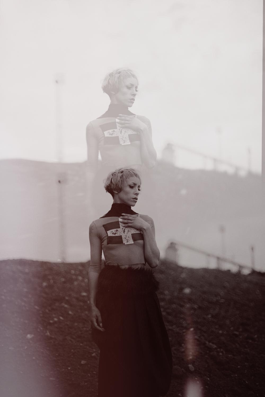 Session for Taiwanese Fashion Designer, Jenn Lee shot near Greenwich, London by Al de Perez. Model Lou Bones