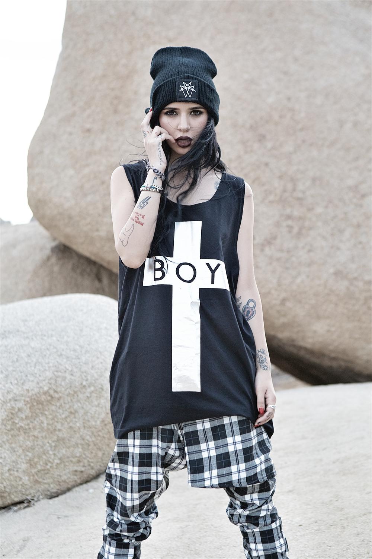 Boy London Swimwear & 2013 T Shirt Collection, Long x Mishka - Joshua Tree and Amboy Road, 29 Palms, California 2013 © Al de Perez - All Rights Reserved