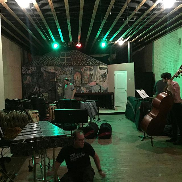 We're having a fantastic time setting up for the next concert of the SoundNOW Festival at Downtown Players Club! Transient Canvas is totes badass!! Tonight at 8:00! #dontmesswiththecartel #cometoourconcerts
