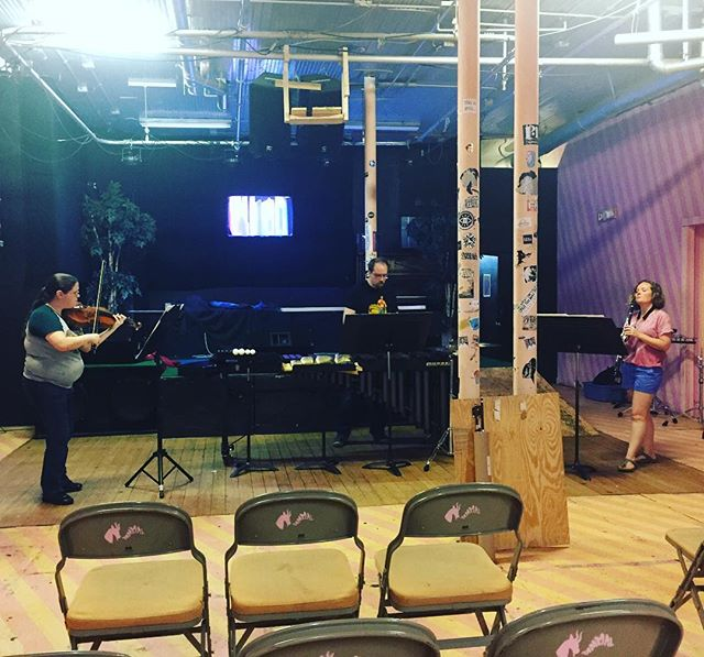 We're obliterating the summer heat warming up for tonight's concert! A/C is turned on! Come out to Mammal at 8:00 and hear some great music including Trio Fluido by Lachenmann! #dontmesswiththecartel #cometoourconcerts