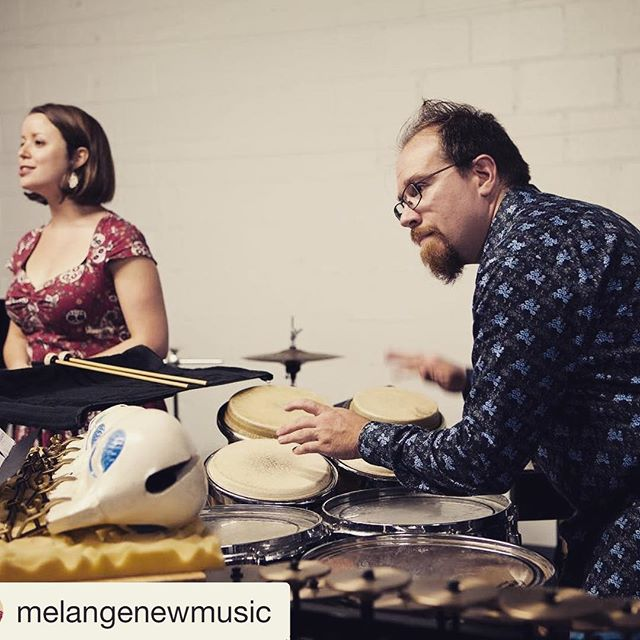 Our Artistic Director, Caleb Herron (@percussioms )has formed another New Music group with soprano @margotroodsoprano , called Mélange! Give them a follow @melangenewmusic and be sure to come to their debut concert THIS SATURDAY, January 13, 8 pm! Visit www.melangenewmusic.com for tix and details!