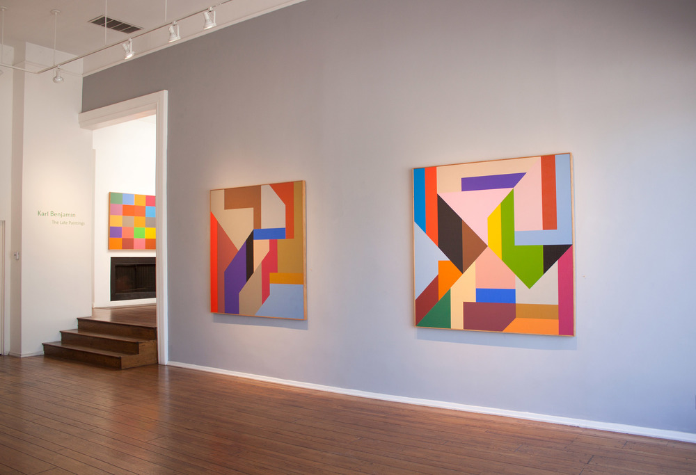 Karl Benjamin: The Late Paintings,  2014, Louis Stern Fine Arts, West Hollywood, California.