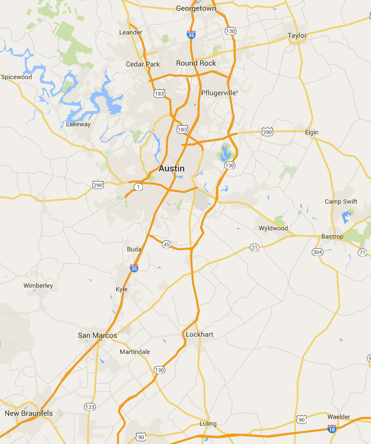Inspection Process Longhorn Inspections Inc - Austin metro area map