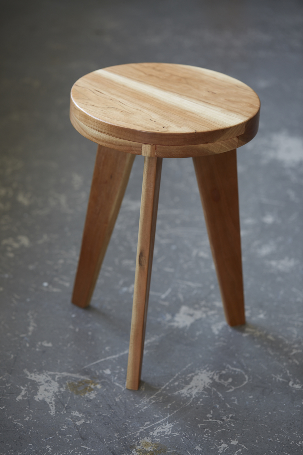 C-S Cherry Wood Stool