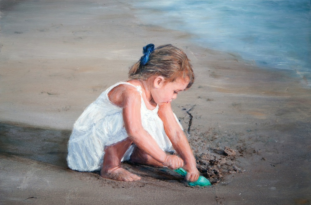 Little Girl with Shovel