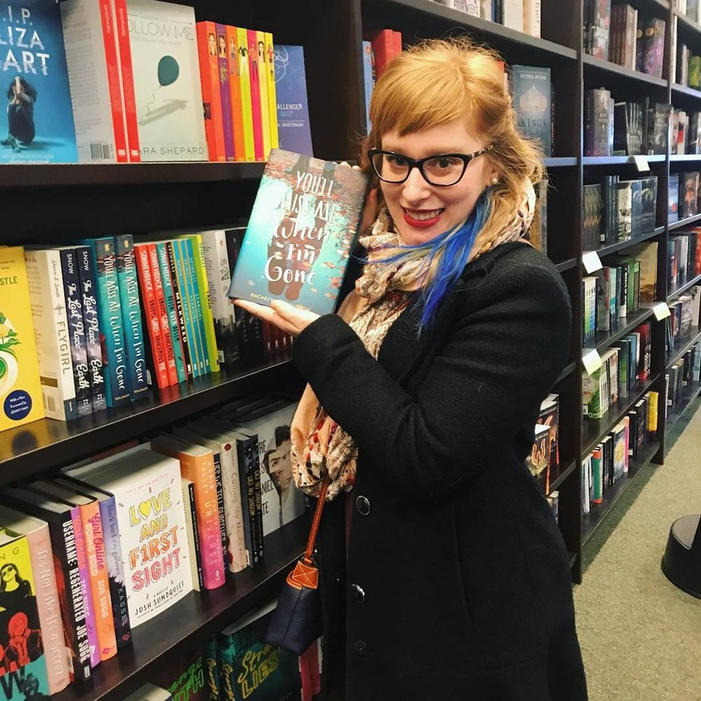 "First in-the-wild book sighting at Barnes & Noble! I am 4'10"" and was so relieved I could reach it."