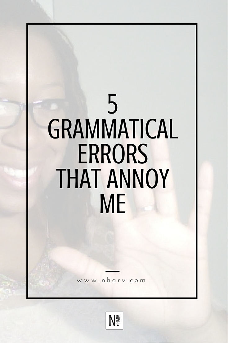 5 different common grammatical errors