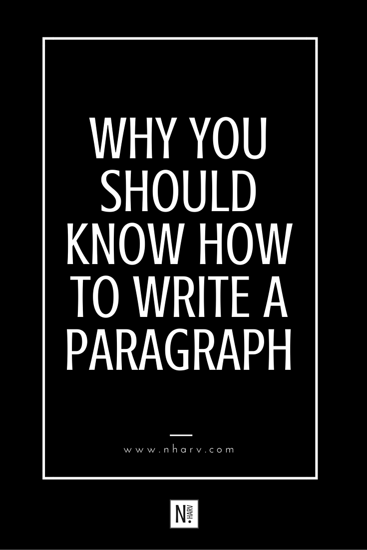 the importance of writing paragraphs