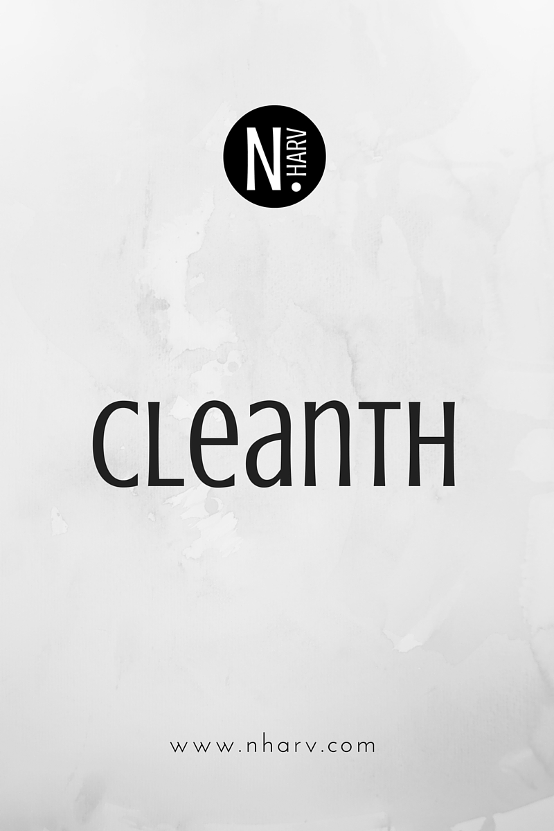 NHARV-word-of-the-day-cleanth