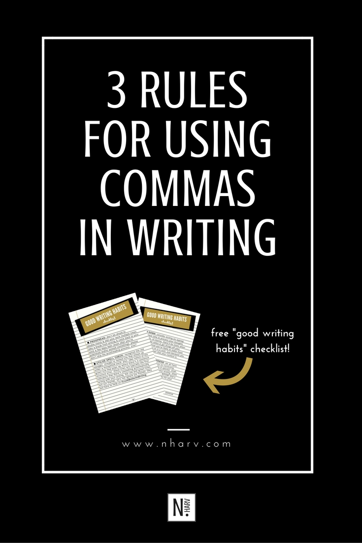 3 ways to use a comma in writing