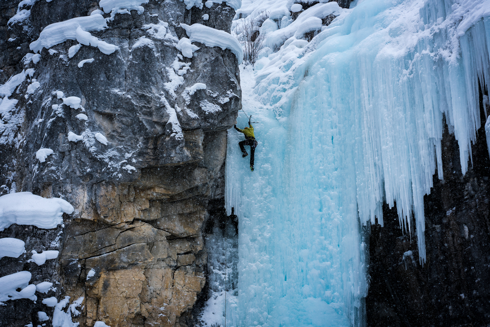 Haffner Creek Ice Climbing