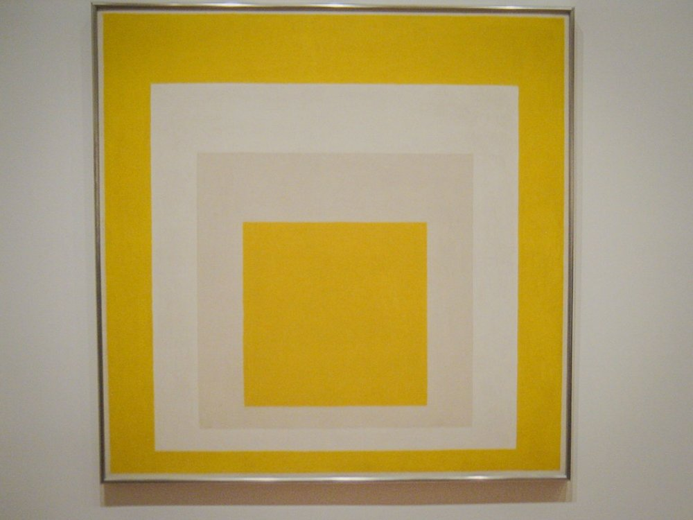 Josef Albers painting at the modern wing of the Metropolitan Museum in NYC