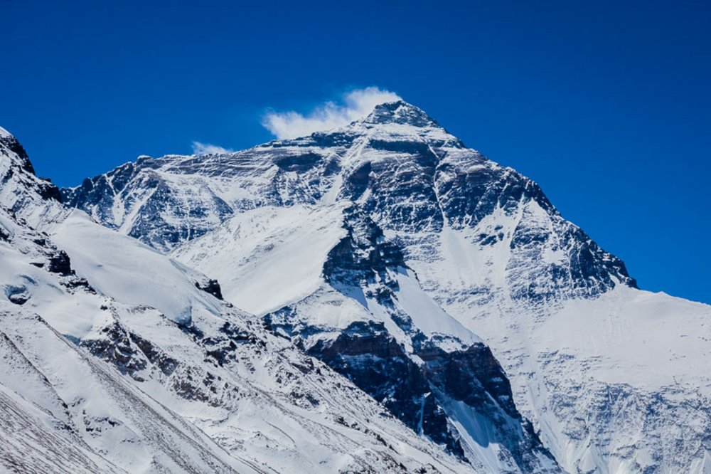 Mount Everest, North Face. Photo taken from Base Camp One, Tibet. Altitude: 17,060 feet!