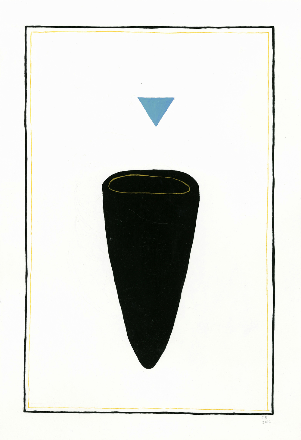Untitled, Blue Triangle