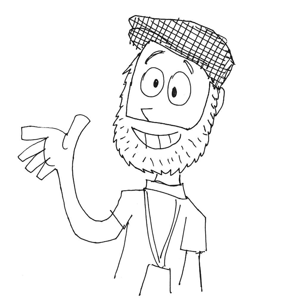 Sean Leslie drawing by Parker Jacobs