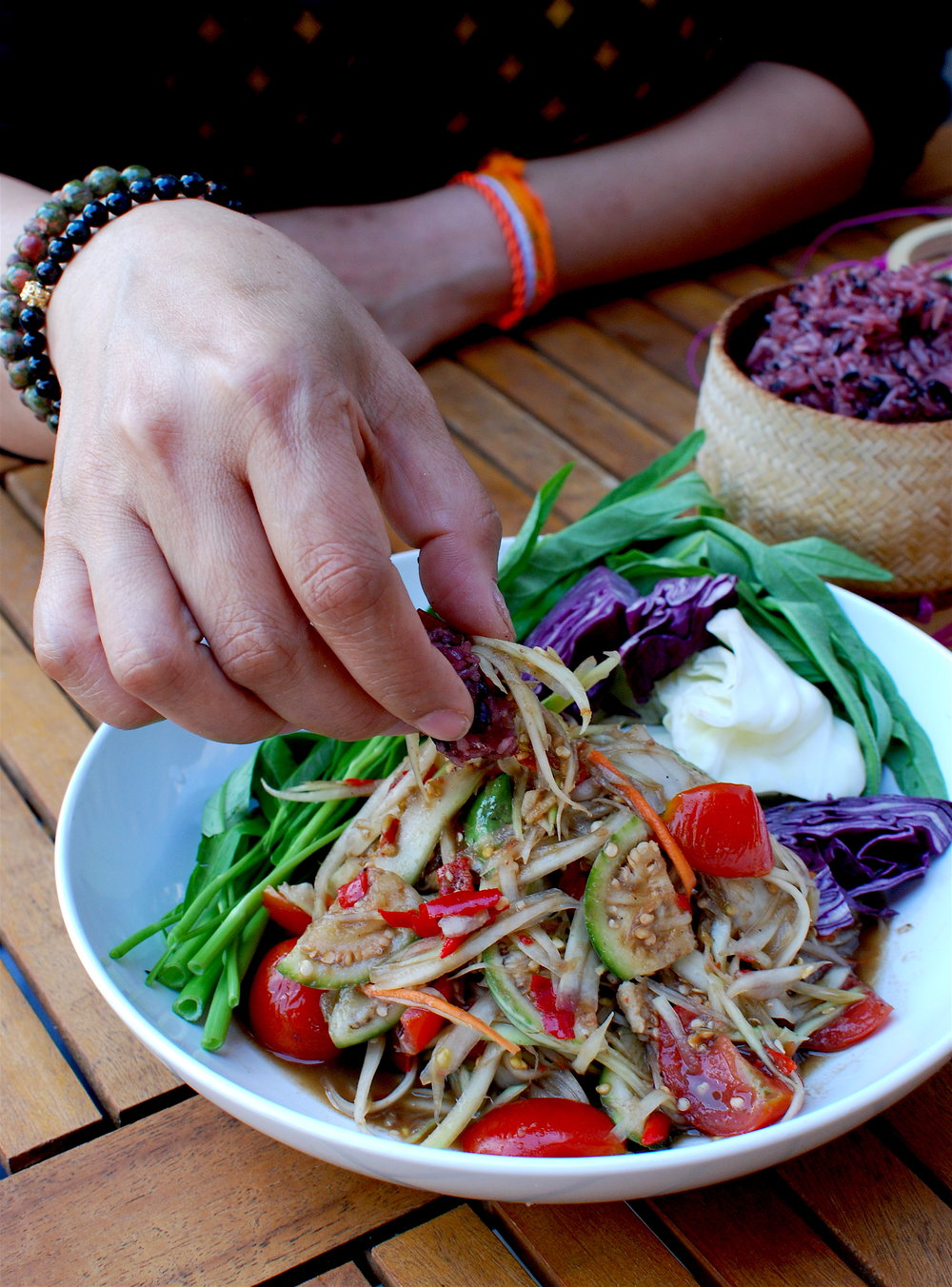 Lao Papaya Salad - Sticky Rice - JC Gibbs.JPG