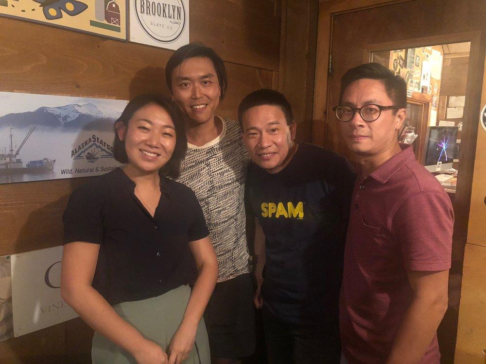 In the studio: Lynda Liu, Jonathan Wu, Chris Cheung, Doron Wong