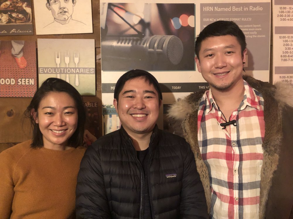 In the studio: Lynda Liu, Xiaowei Zheng, Donovan Tian