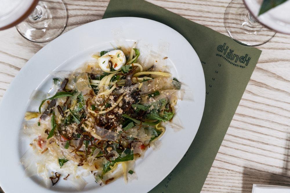 Rice Paper Salad at Di An Di