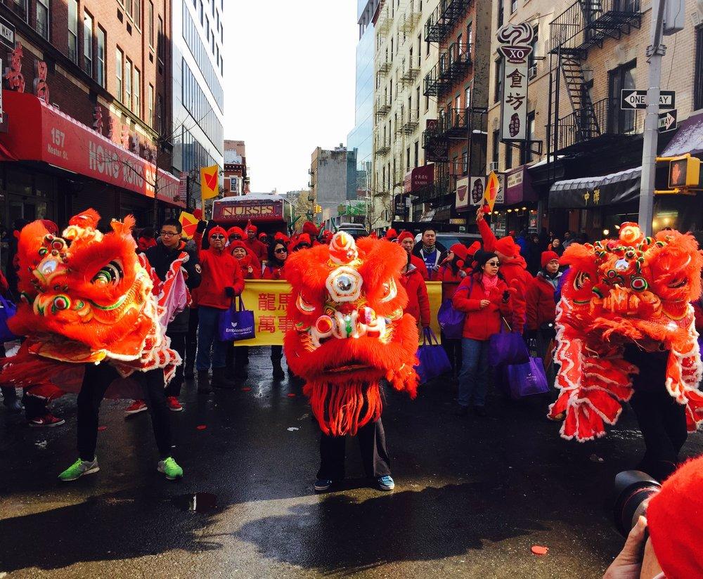 Chinatown during Chinese New Year
