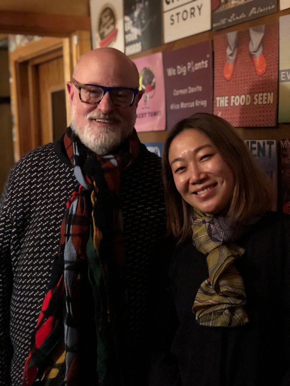 In the studio: Ed Schoenfeld and Lynda Liu