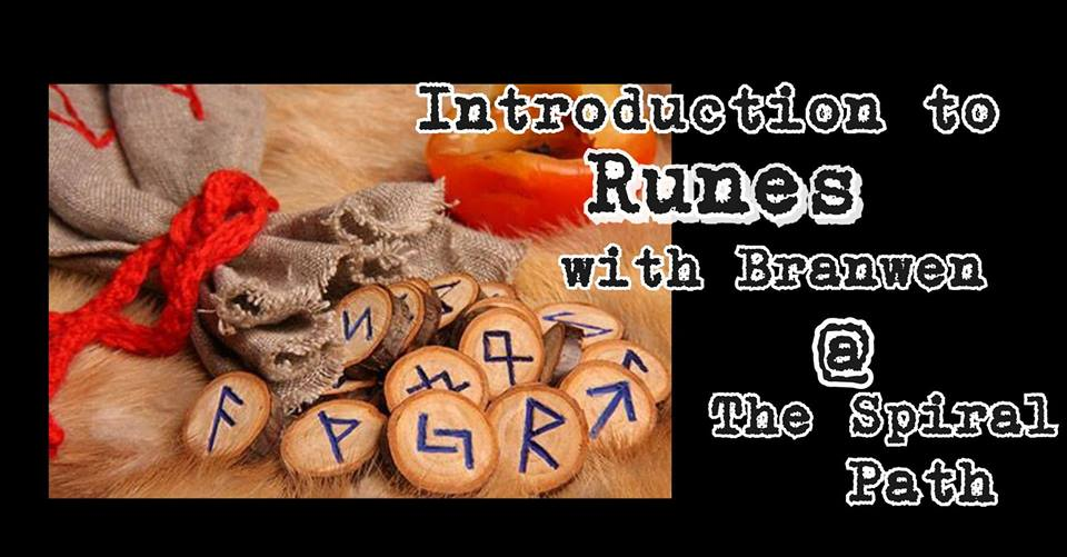 TUESDAY, OCTOBER 9th - Introduction to Runes | Get to know the runes with Branwen! Tuesday October 9th 7-9pm at The Spiral Path in MarysvilleThis is an introductory class that will go over the history of the runes, & basic correspondences. Will craft a learning set by going through and talking about each rune as well as some basic beginner reading techniques.This is Part 1 (This will be a 3 part series, future classes to be announced). There's more to just pulling a rune out of a bag, so let's really get into it with some of the history & lore of this ancient divination practice.* Hosted by The Spiral Path