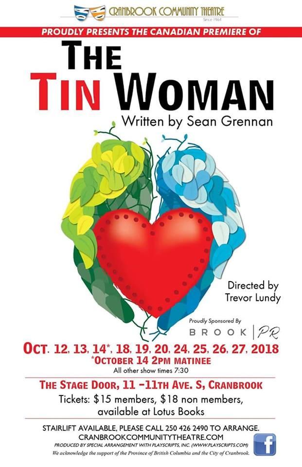 FRIDAY, OCTOBER 12th - Cranbrook Community Theatre presents