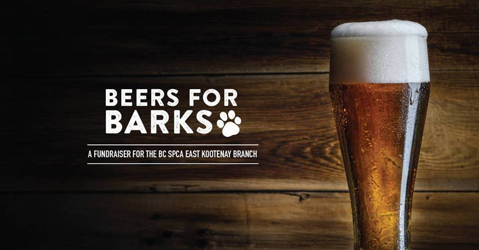 MONDAY, November 5th - BC SPCA East Kootenay - Beers for Barks   It is easy to support animals in your community, especially if you like good food and drink! Join us on Monday November 5th at the Heidout Restaurant and Brewhouse from 6:00pm to 9:00pm for a burger and beer in support of the BC SPCA East Kootenay Branch.Tickets are $25 and include a burger (beef, turkey or veggie) with fries or 1-piece fish and chips and your choice of beer, wine or pop as well as entry into our door prize draw. Browse through the robust silent auction that is filled with fabulous items from donors in the area.Sit back and enjoy live music by the talented Note-able Folk who sample a long list of popular songs from the past eight decades that you will know and love. Their melodic, folk-pop style is sure to get you singing along!All proceeds go to supporting the animals in the care of the BC SPCA East Kootenay Branch and assist with spaying and neutering, medical care, and providing a warm, loving environment for homeless animals.* Hosted by BC SPCA East Kootenay Branch and BC SPCA (BCSPCA)