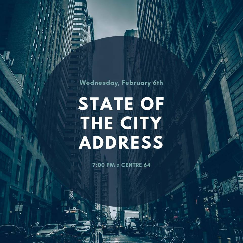 WEDNESDAY, February 6th - 2019 State of the City Address with Mayor Don McCormick | Please join us in the Theatre at Centre 64 for this year's State of the City Address with Mayor Don McCormick. The Mayor will provide an update on progress made this past year on key objectives, and discuss modifications to those objectives made by the new Council. A Q&A will follow. Doors will open at 6:30pm.* Hosted by Kimberley & District Chamber of Commerce, Kimberley Arts Council - Centre 64, and City of Kimberley.