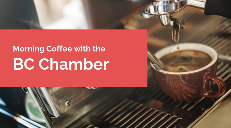 WEDNESDAY, February 20th - Morning Coffee with the BC Chamber   Join us to celebrate CHAMBER WEEK! The BC Chamber of Commerce is coming to town and the Kimberley & District Chamber of Commerce is hosting a casual morning meet and greet with our special guests.Learn more about how the BC Chamber is driving business advocacy, key issues affecting BC businesses, and more about the Chamber Member benefits available.Our special guests include:- Ramon Solinas, Chamber Group Insurance Plan who will be presenting on the Chamber employee benefit plan; a comprehensive health insurance plan designed for small businesses- Dan Baxter, Director of Policy, BC Chamber of Commerce who will review the BC Chamber network's policy work relative to issues in our region.- Joan Isac, Director of Membership, BC Chamber of Commerce who will review member benefits that are available to all members of the Chamber of Commerce with specific focus on Legal Consultation and access to student talent for your business.Light snacks, coffee/tea will be provided; beer & wine available for purchase. All are welcome to attend.* Hosted by Kimberley & District Chamber of Commerce