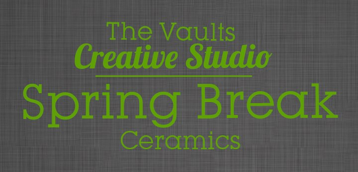 MONDAY, March 25th to Friday March 29th - Spring Break Ceramics | Bring your kids in for some creative family time! All school age children will receive 15% off during spring break.This is an open studio event with limited seating - All spaces are available on a first come first serve basis.general paint time is between 1-2 hours,. Prices for ceramics are between $5 - $50 and include paints, supplies and firing. Children 12 and up can be left unattended but children younger will require an adult to join them.* Hosted by Cranbrook Photo & Studio