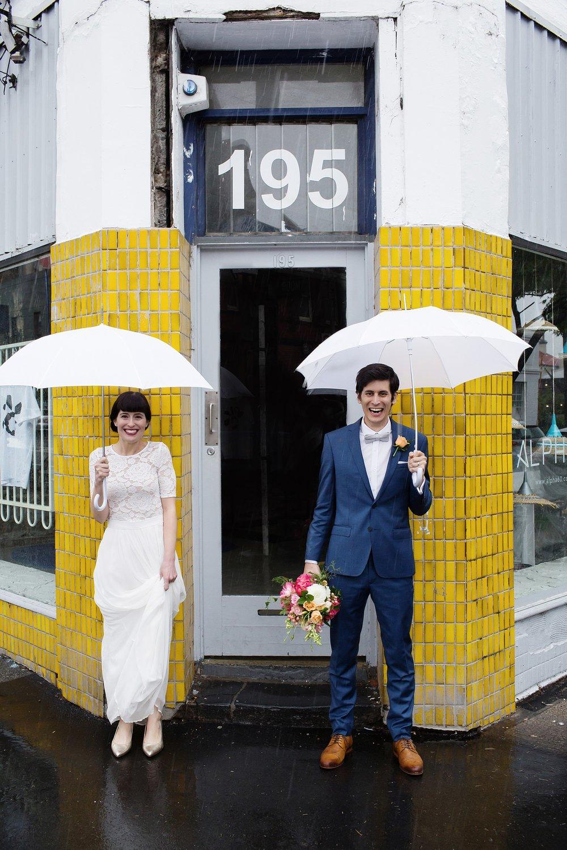 Lauren & Ross - rainy fitzroy wedding