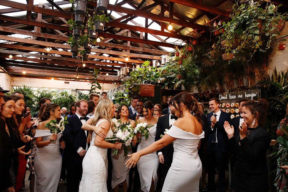 cara & Jacob - glasshaus inside wedding